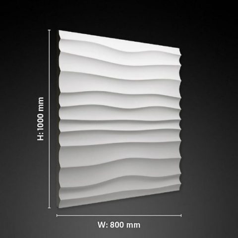 choppy 3d gypsum panel size