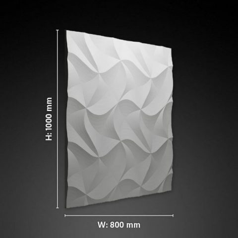origami 3d gypsum panel size